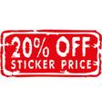 20 percent off discount sticker vector image