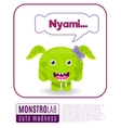 a monster saying nyami vector image vector image