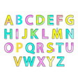 alphabet colorful letters set vector image vector image