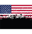American Party Crowd vector image
