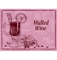 Background with mulled wine vector image