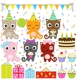 birthday party cats vector image vector image