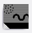 black and white Neo Memphis geometric pattern vector image vector image
