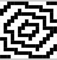 black and white weave pattern background vector image vector image