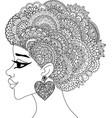 black woman vector image