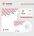 business brochuer design with cd cover and card vector image