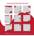 Cakes social media post design template
