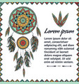 card design colorful dreamcatcher text place vector image vector image
