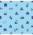 chemistry icons blue pattern eps10 vector image vector image