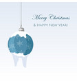 christmas decorative blue ball with snowflakes vector image vector image