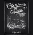christmas menu on chalkboard vector image