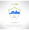 Cloud computing security Data protection concept vector image