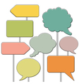 collect speech bubbles vector image