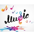 Colorful music logo on white vector image vector image