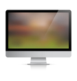 Computer monitor with abstract background on