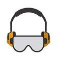 construction earphones equipment vector image vector image