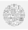 Copywriting round line vector image vector image