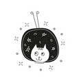 cute cat in space print childish vector image vector image