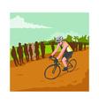 Cyclist Racing WPA vector image