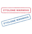 cyclone warning textile stamps vector image vector image