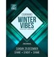 Dance party dj battle poster design Winter disco vector image vector image