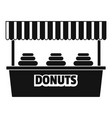donuts selling icon simple style vector image vector image