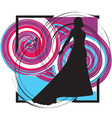 Fashion woman silhouette vector image vector image