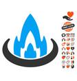 fire location icon with valentine bonus vector image