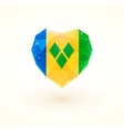 Flag of Saint Vincent and the Grenadines in shape vector image