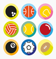Flat and round sport icons vector image vector image