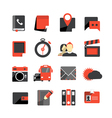 Flat design monochrome icons collection vector image vector image