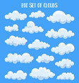 fluffy and cumulus clouds at summer sky vector image