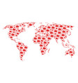 global map mosaic of boom explosion items vector image