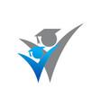 graduate academic logo icon design vector image