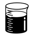 graduated beaker icon simple style vector image vector image