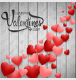 happy valentines day with red heart vector image vector image