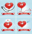 health day background with heart and medical vector image
