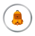 Hiking bag icon of for web and vector image vector image