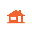 Home icon house silhouette vector image