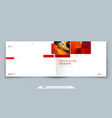 horizontal brochure template layout design vector image vector image