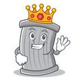 king trash character cartoon style vector image vector image