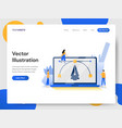 landing page template create design on laptop vector image