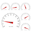 manometer set of scales vector image vector image