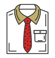 men stylish outfit icon vector image