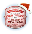 merry christmas and happy new years badge vector image vector image