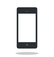 Mobile phone icon with drop shadow Flat style vector image