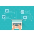 Modern infographic with laptop Flat design vector image vector image