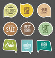 modern sale stickers collection 2 vector image vector image