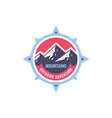 mountains sdventure outdoors - concept badge vector image vector image
