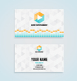 music entertainment name card template vector image vector image